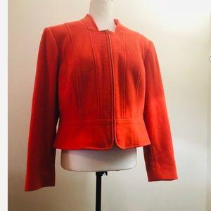 LOUBEN II orange wool coat
